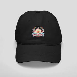 Circus Carnival Theme 11th Bi Black Cap with Patch