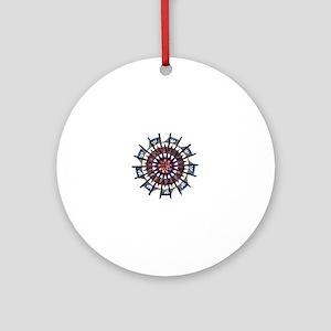 Greek Mandala Round Ornament