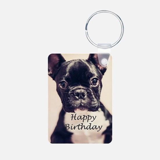 Birthday French Bulldog Keychains
