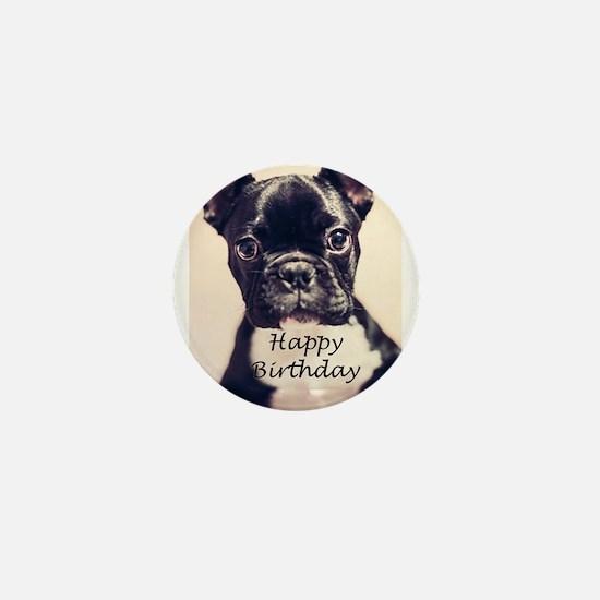 Birthday French Bulldog Mini Button