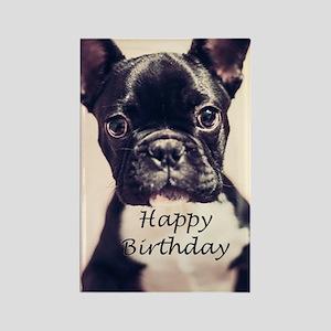 Birthday French Bulldog Rectangle Magnet