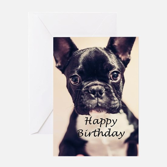 Birthday French Bulldog Greeting Card