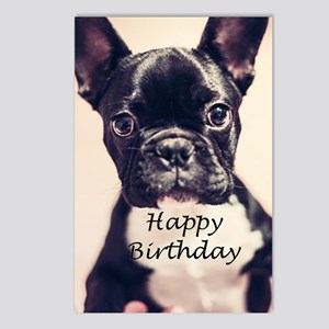 Birthday French Bulldog Postcards (Package of 8)