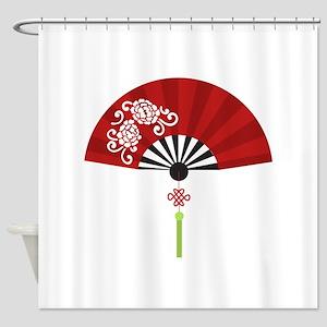 Asian Fan Shower Curtain