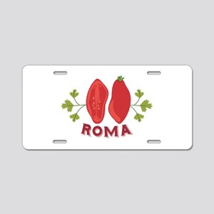 Roma Aluminum License Plate