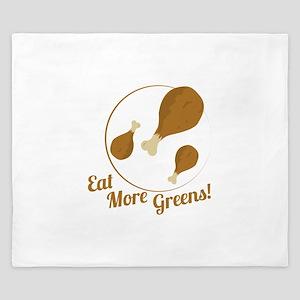 Eat More Greens! King Duvet