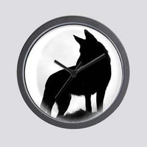 Black Shepherd Wall Clock