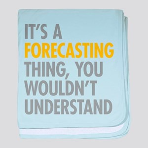 Its A Forecasting Thing baby blanket