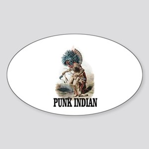 the punk blue Haired man Sticker
