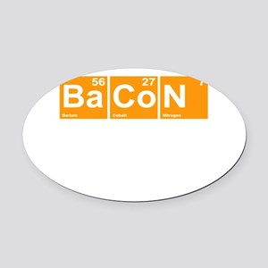 Bacon Elements Oval Car Magnet