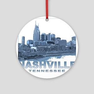 Nashville Tennessee Skyline Ornament (Round)
