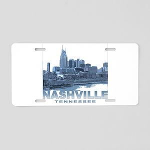 Nashville Tennessee Skyline Aluminum License Plate