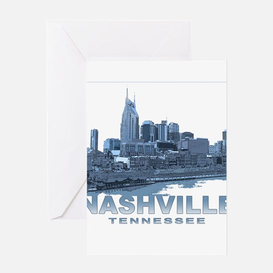 Nashville Tennessee Skyline Greeting Cards