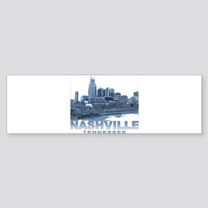 Nashville Tennessee Skyline Bumper Sticker