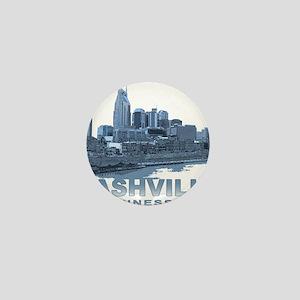 Nashville Tennessee Skyline Mini Button