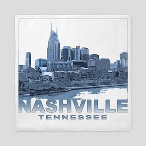 Nashville Tennessee Skyline Queen Duvet