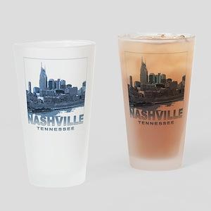 Nashville Tennessee Skyline Drinking Glass