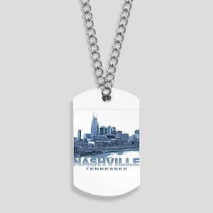 Nashville Tennessee Skyline Dog Tags
