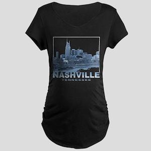 Nashville Tennessee Skyline Maternity T-Shirt
