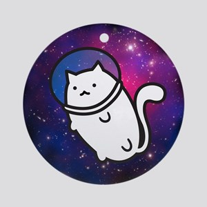 Fat Cat in Space Ornament (Round)