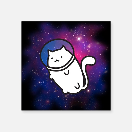 Fat Cat in Space Sticker