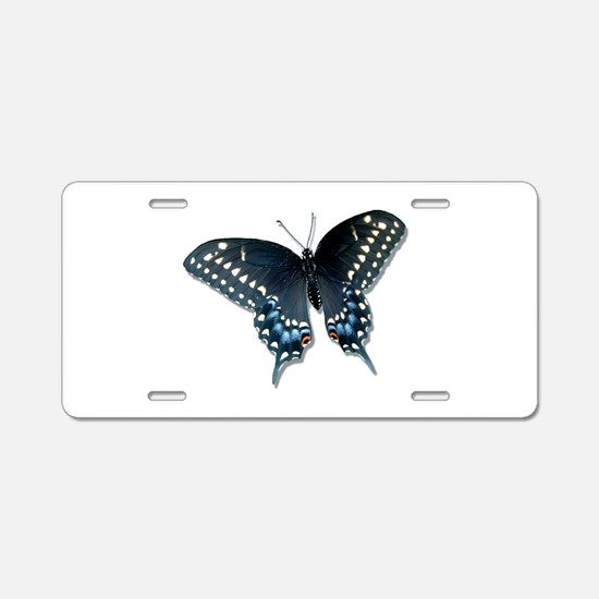 Black Swallowtail Butterfly Aluminum License Plate