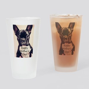 Happy Mother's Day French Bulldog Drinking Glass