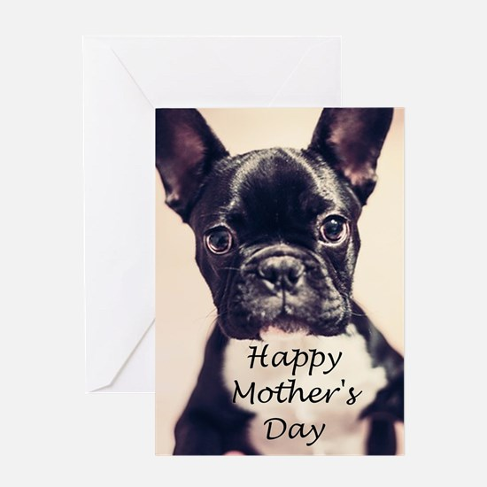 Happy Mother's Day French Bulldog Greeting Cards