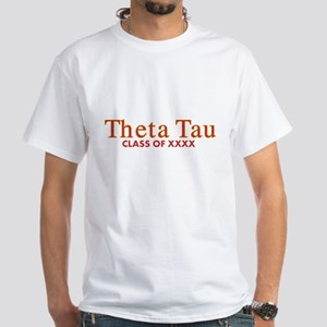 Theta Tau Fraternity Name in Yellow White T-Shirt