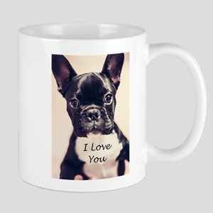 I Love You French Bulldog Mugs
