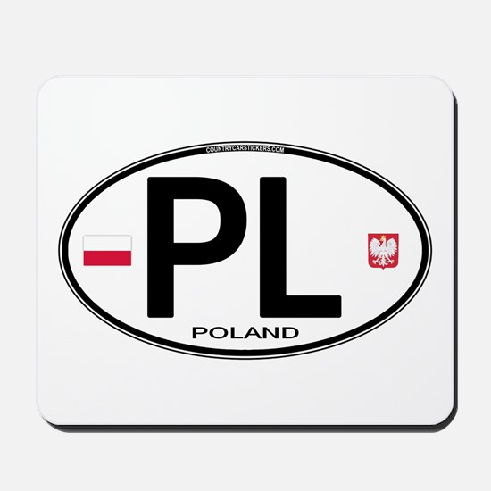 Poland Intl Oval Mousepad
