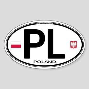 Poland Intl Oval Oval Sticker