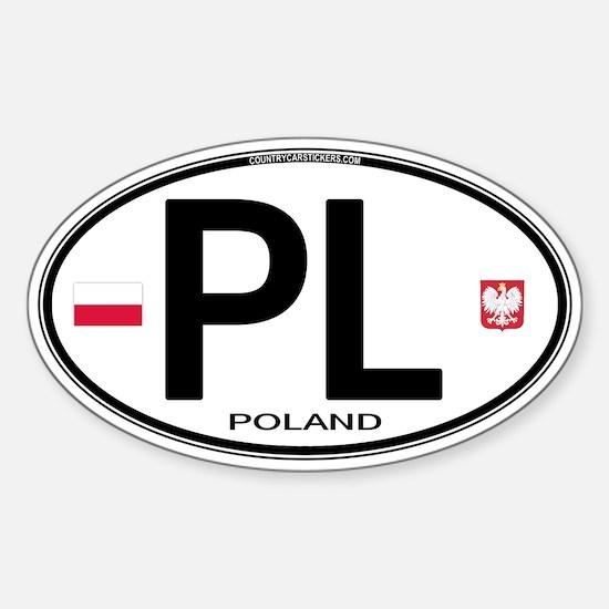 Poland Intl Oval Oval Decal
