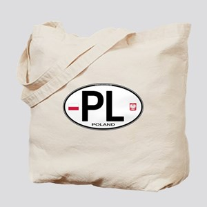 Poland Intl Oval Tote Bag