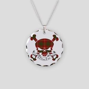 MacFie Tartan Skull Necklace Circle Charm