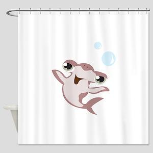 Happy Hammerhead Shark Shower Curtain