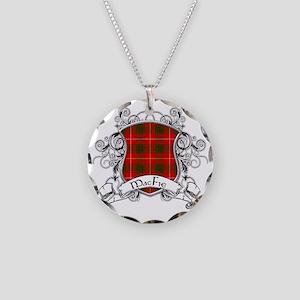 MacFie Tartan Shield Necklace Circle Charm