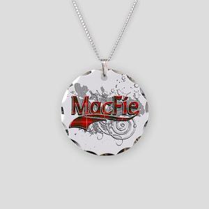 MacFie Tartan Grunge Necklace Circle Charm