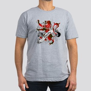 MacFie Tartan Lion Men's Fitted T-Shirt (dark)