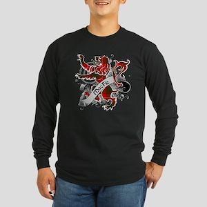 MacFie Tartan Lion Long Sleeve Dark T-Shirt