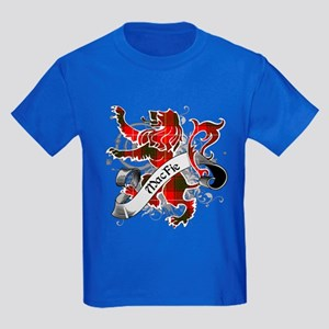 MacFie Tartan Lion Kids Dark T-Shirt