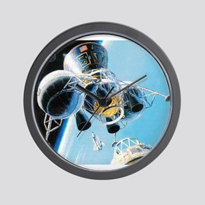 lunar landing Wall Clock