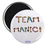 "Team Manic! Button Magnets 2.25"" 10 Pack."