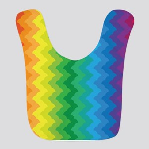 Chevron Rainbow Zigzag Bib