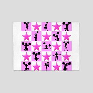 STAR CHEERLEADER 5'x7'Area Rug