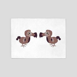 Dodo Twins 5'x7'Area Rug