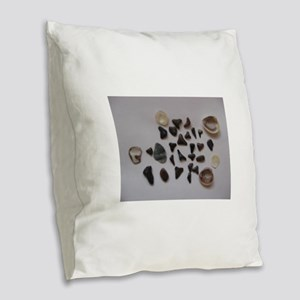 Fossilized Sharks Teeth And Shells Burlap Throw Pi