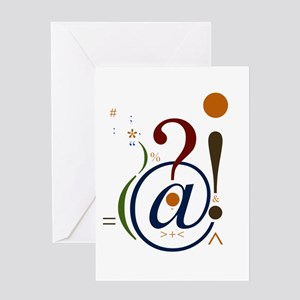 Punctuation Art Card Greeting Cards