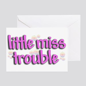 Little miss trouble Greeting Cards (Pk of 10)