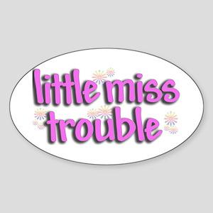 Little miss trouble Oval Sticker